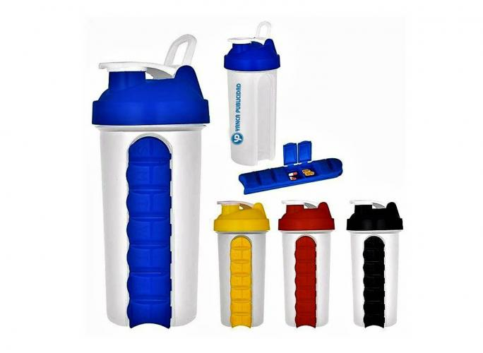 TERMOS,-MUGS-Y-BOTILITOS,  Botella Shaker Pill Organizer 700ml. BE0244, Botella Shaker Pill Organizer 700ml. BE0244