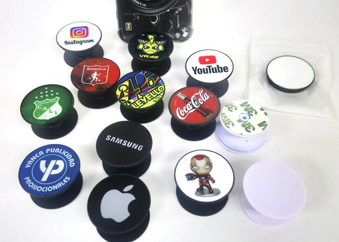 Pop Sockets Negro Sublimable